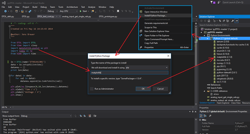 Using Data Translation's DT-Open Layers for Win32 SDK, with Python
